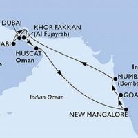 India és az Egyesült Arab Emirátusok Repülős hajóút Magyar idegenvezetővel! MSC Lirica