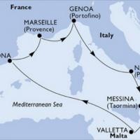 Mediterrán csodák - Húsvéti időszakban Repülős hajóút Magyar idegenvezetővel! MSC Grandiosa