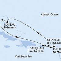 Karibi hangulat Repülős hajóút Magyar idegenvezetővel! MSC Seaside