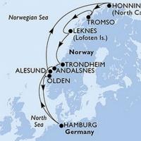 Norvég fjordok Repülős hajóút Magyar idegenvezetővel! MSC Meraviglia