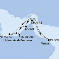 Egyesült Arab Emirátusok - Kelet kincsei Repülős hajóút Magyar idegenvezetővel! MSC Bellissima