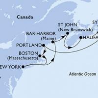 New York és Kanada vadregényes partjain Repülős hajóút Magyar idegenvezetővel! MSC Meraviglia